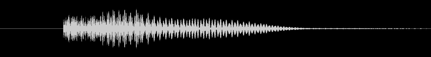 ヘヴィメタ風 ブリッジミュート音2の未再生の波形