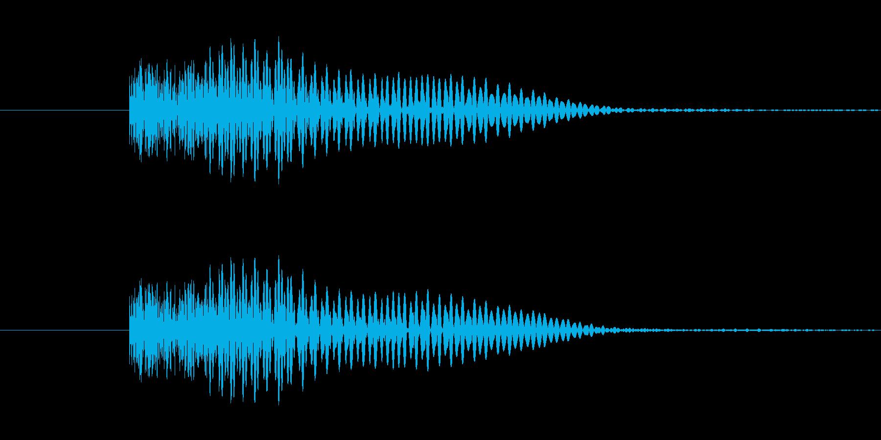 ヘヴィメタ風 ブリッジミュート音2の再生済みの波形