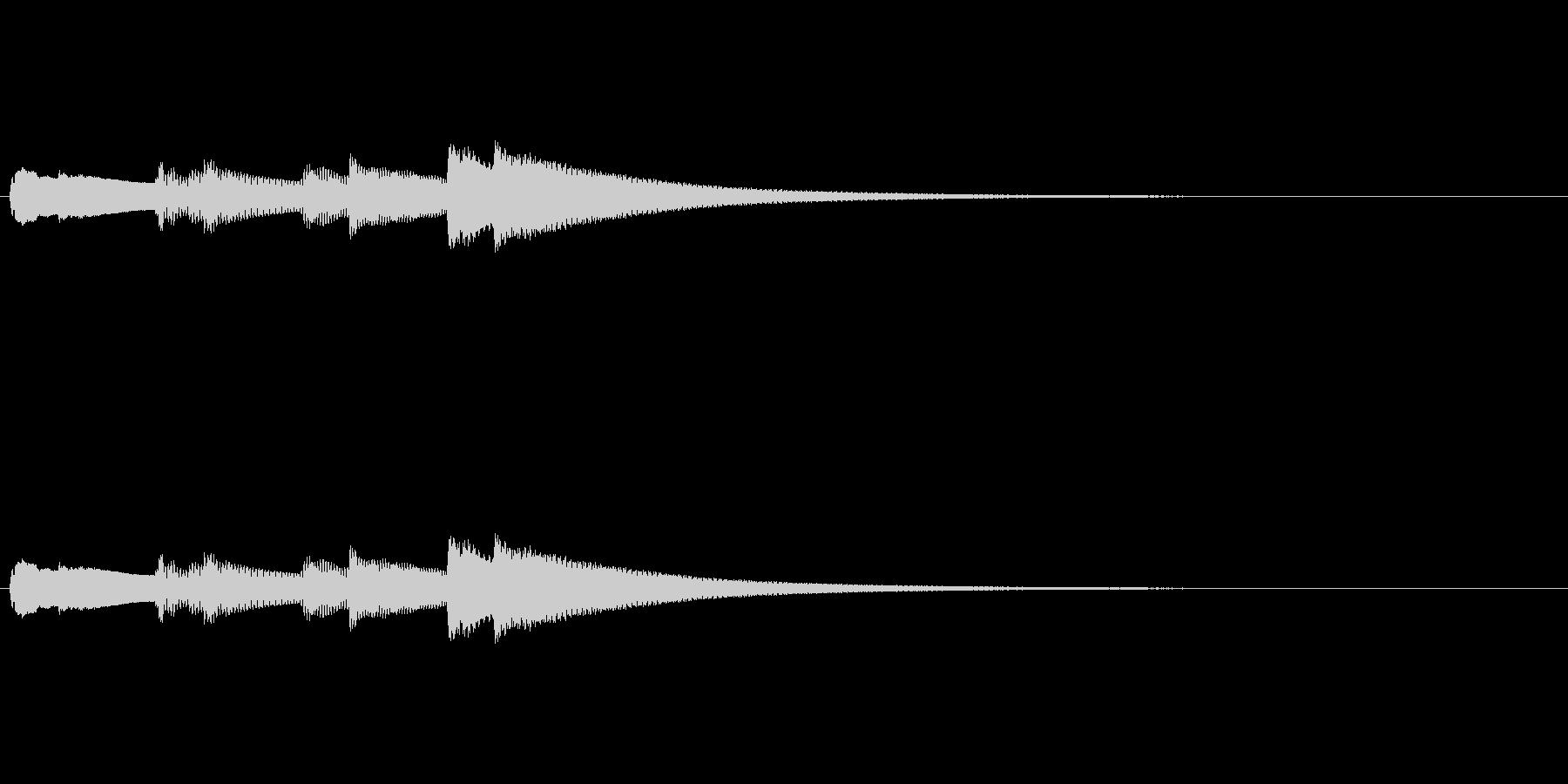 【キラキラキラキラーン】チェレスタ上昇音の未再生の波形