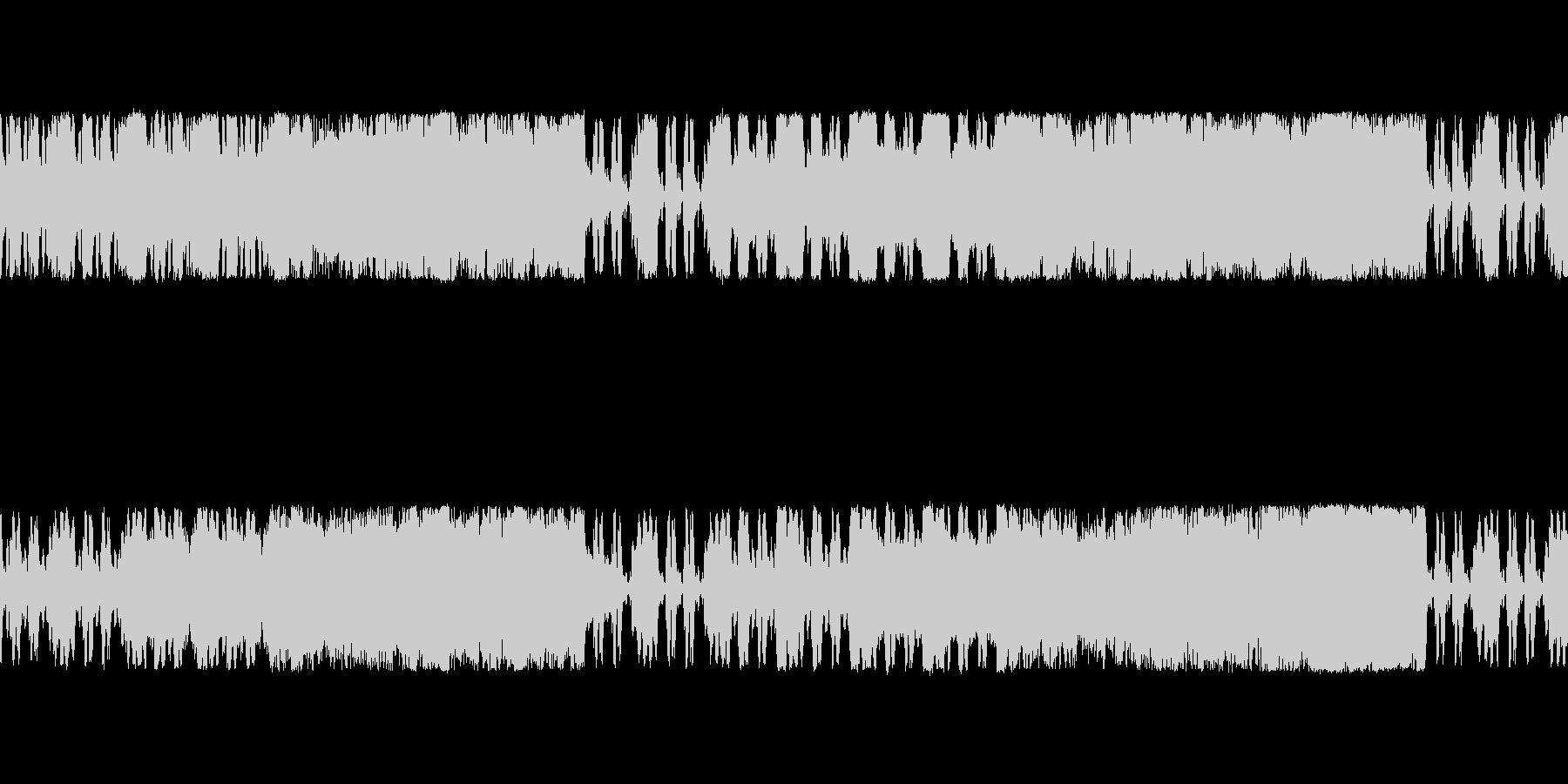 戦闘準備の高揚感をイメージしたBGMの未再生の波形