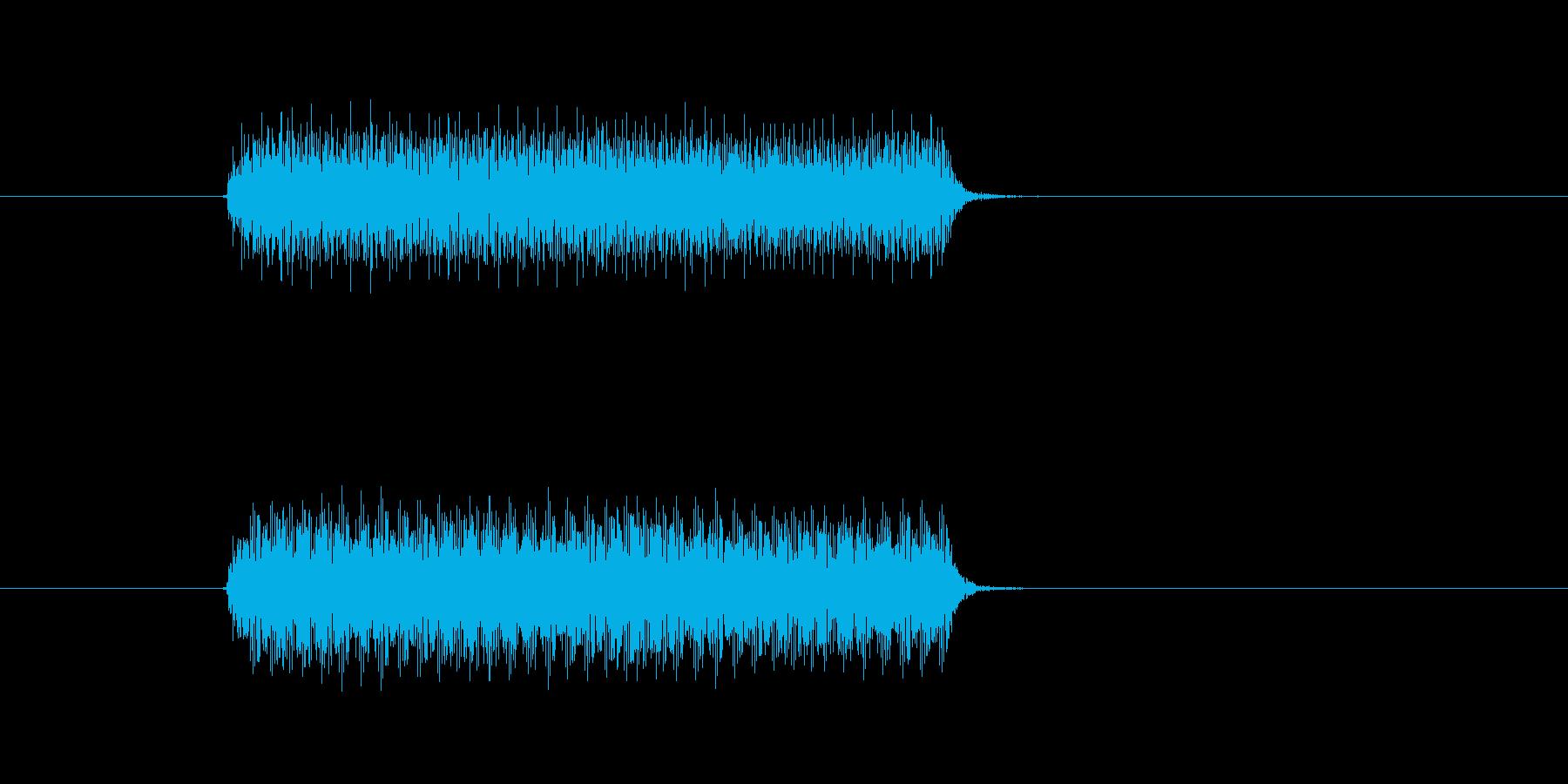クラクション1連の再生済みの波形