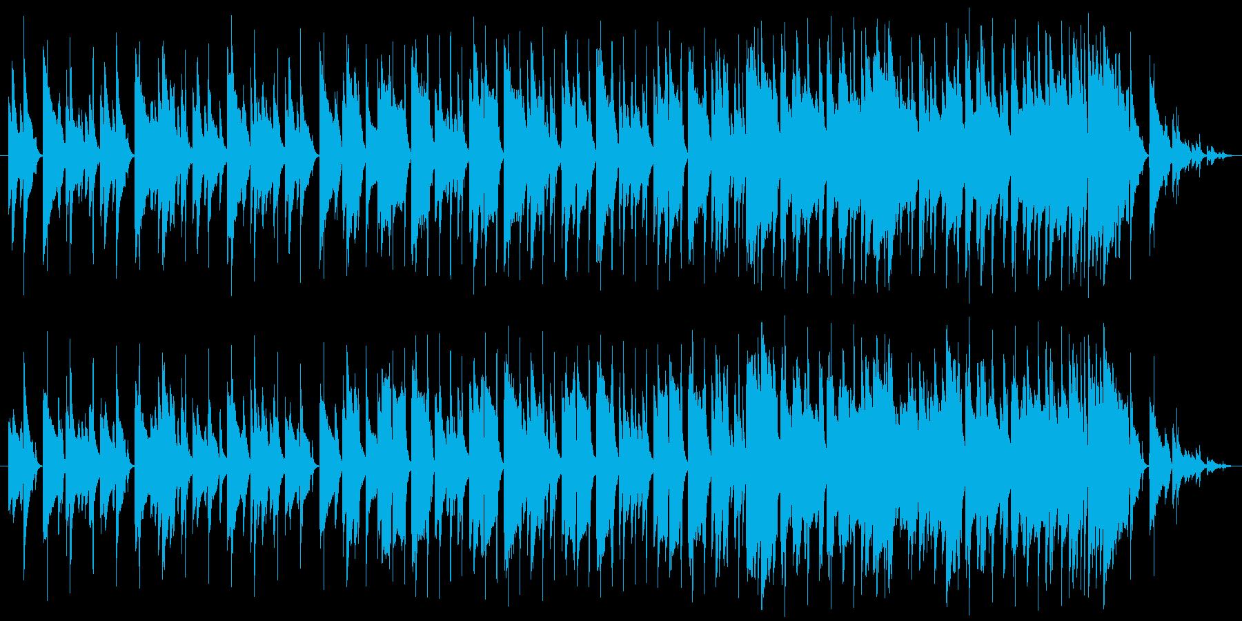 くたびれた雰囲気の曲です。繰り返し再生…の再生済みの波形