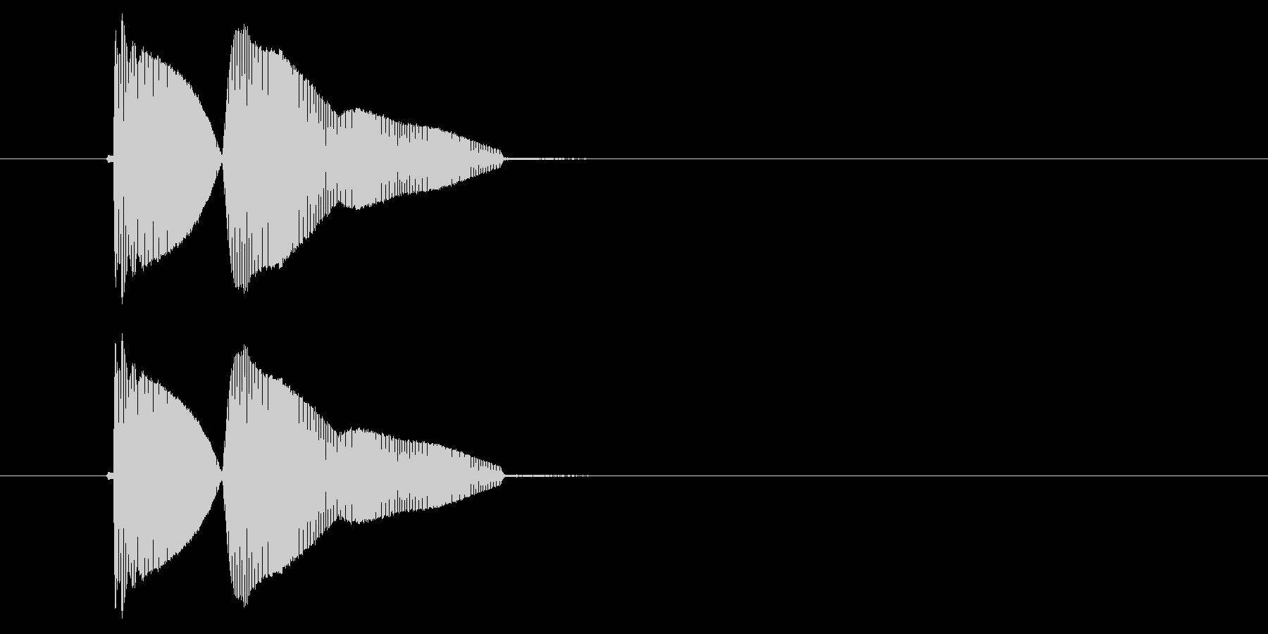プゥィプゥィーン(ドジな失敗)の未再生の波形
