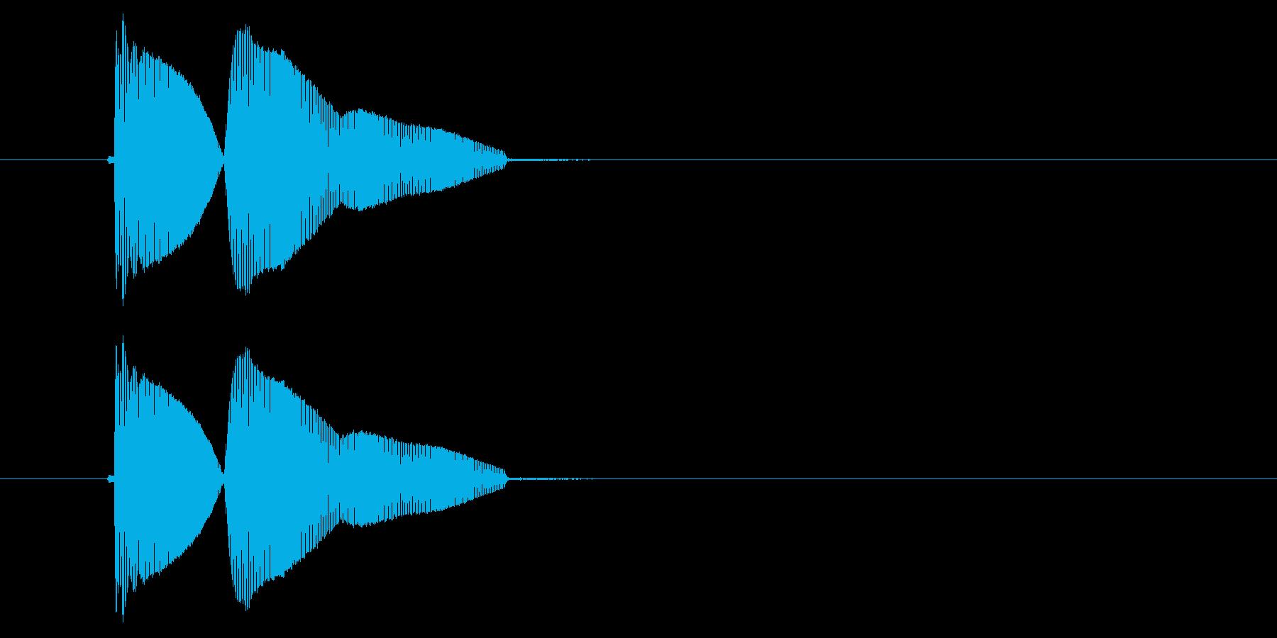 プゥィプゥィーン(ドジな失敗)の再生済みの波形