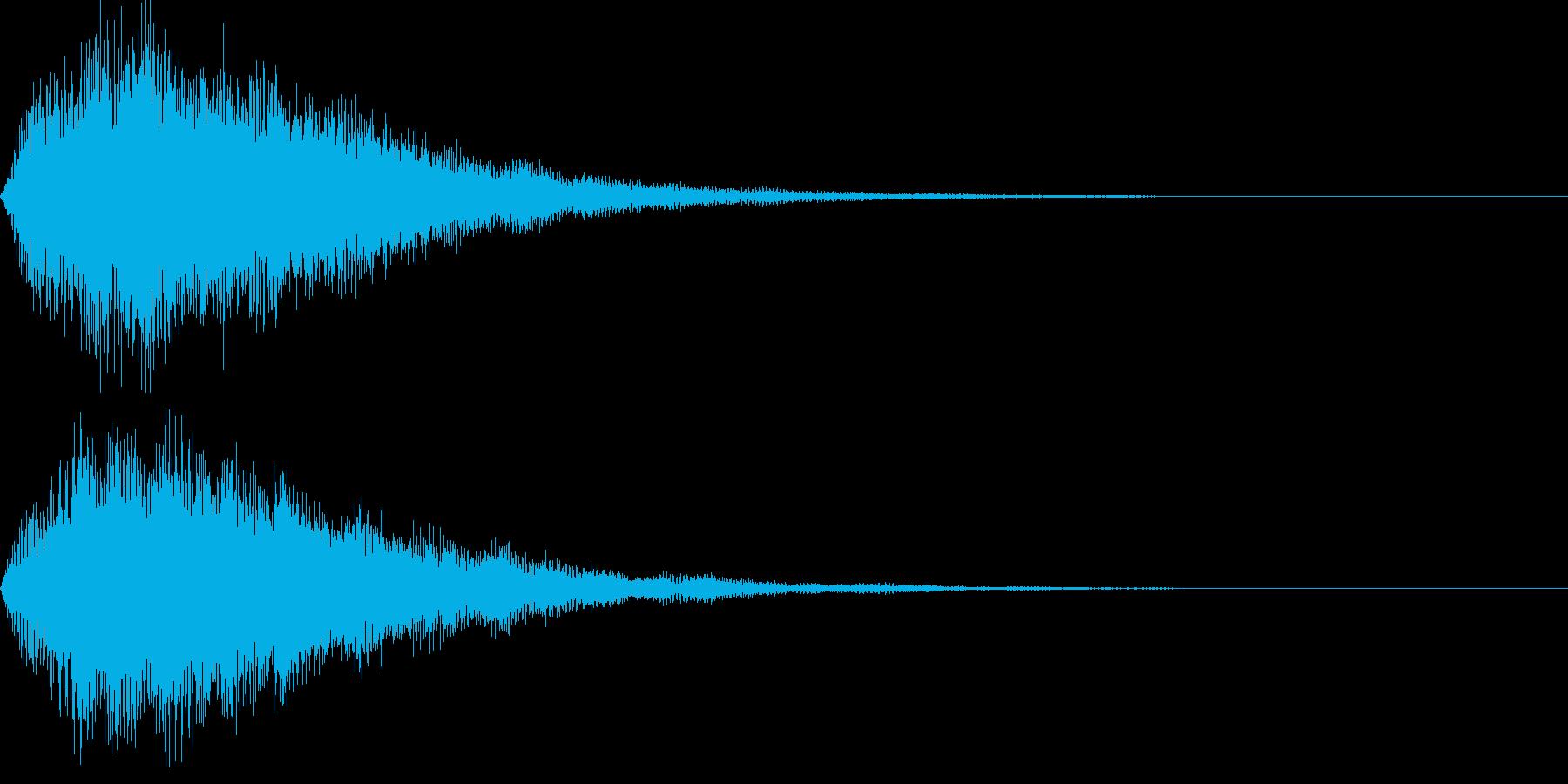 サウンドロゴ52_シンセ系の再生済みの波形