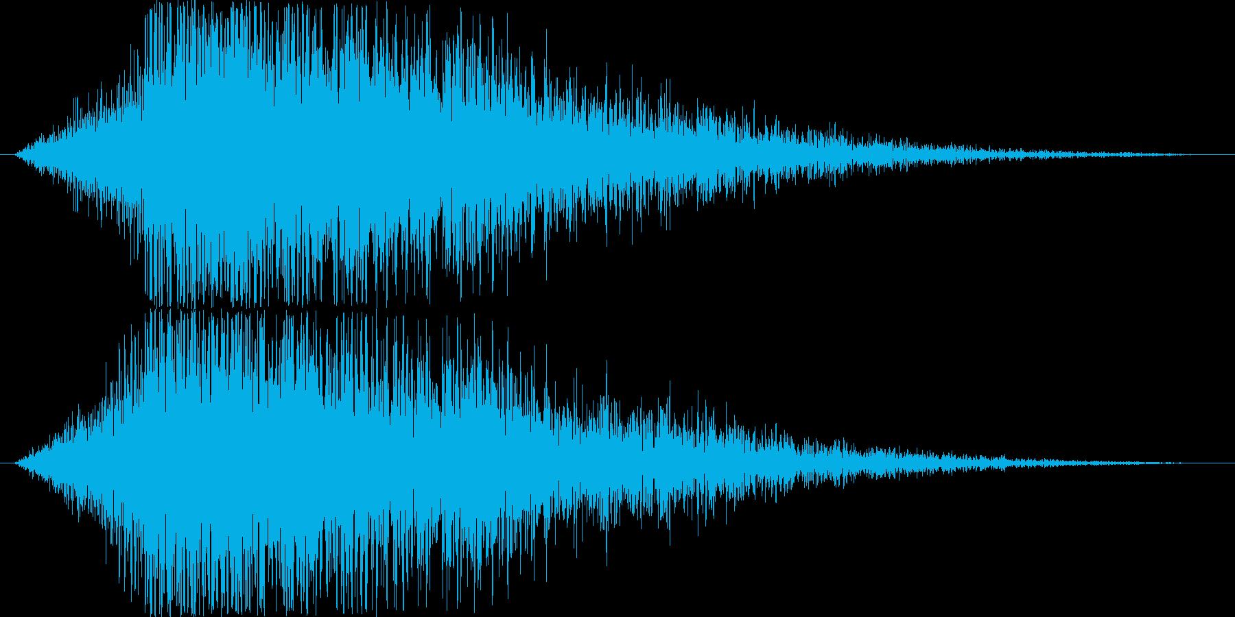 パワーアップ・レベルアップ(ドーン)の再生済みの波形