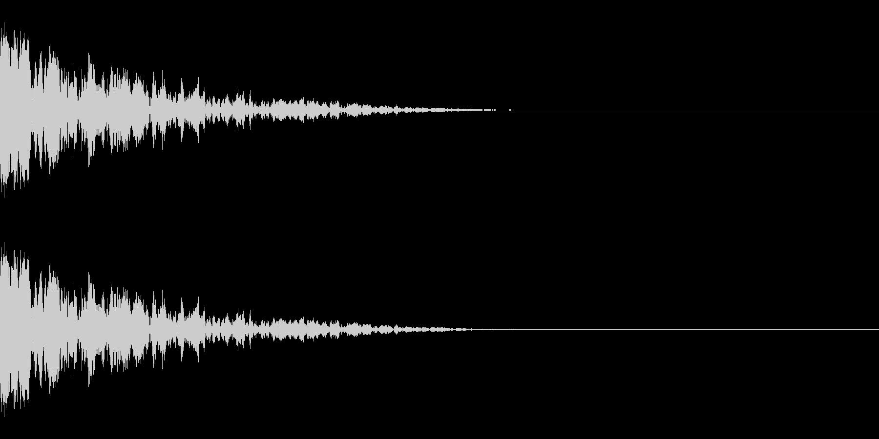 カン(氷/固いものにぶつかる/ブロック)の未再生の波形