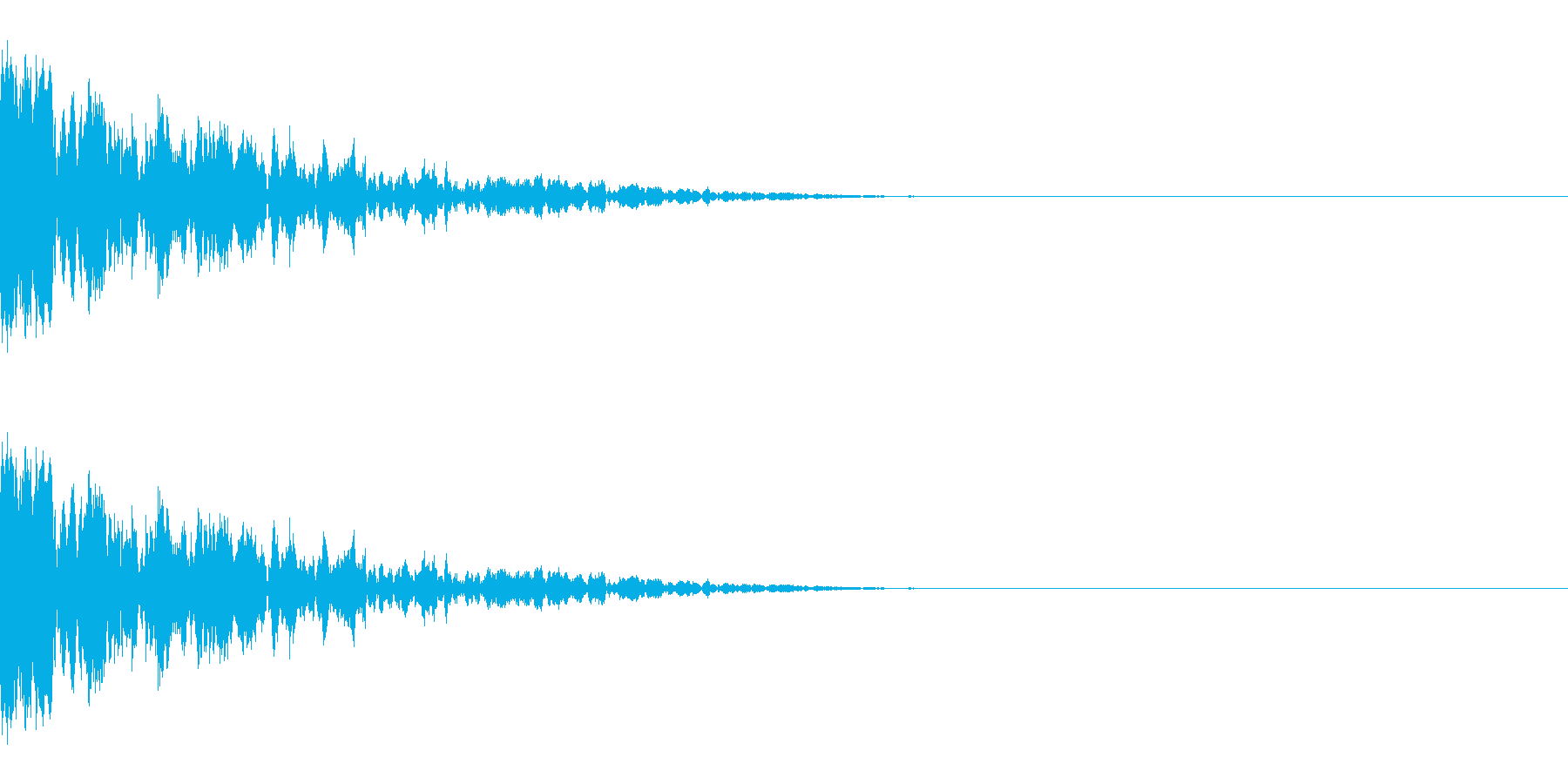 カン(氷/固いものにぶつかる/ブロック)の再生済みの波形