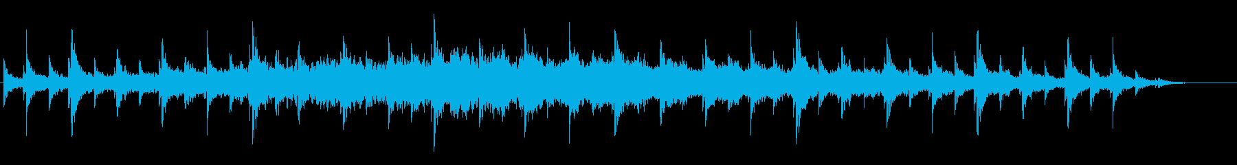 エスニックな葬送行進曲のような音風景の再生済みの波形