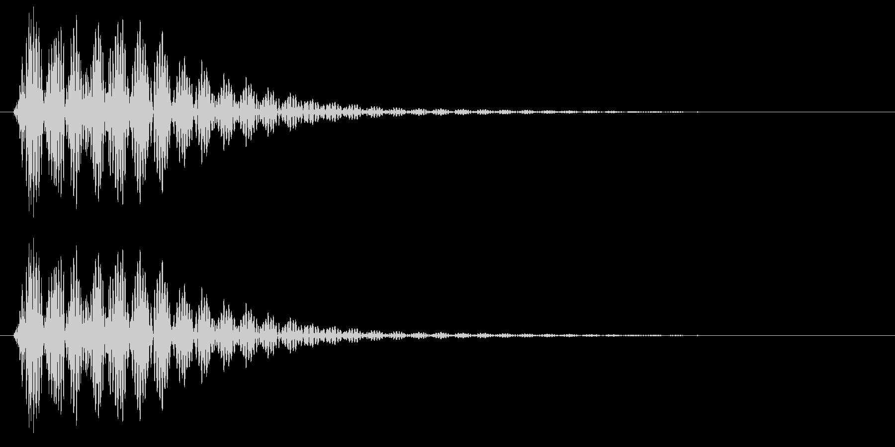 ポン、というはっきりした決定音の未再生の波形