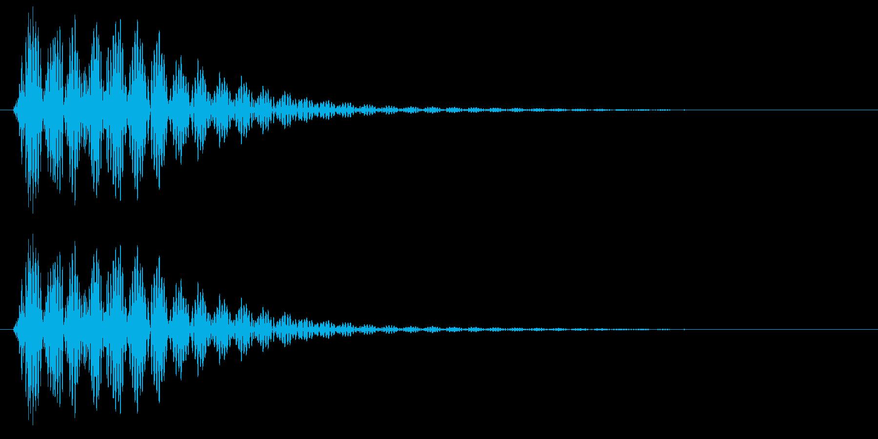 ポン、というはっきりした決定音の再生済みの波形