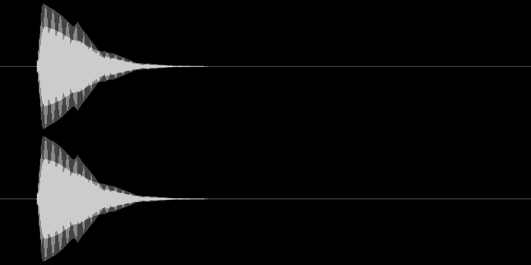 ピッ(カーソル、操作音) 03の未再生の波形