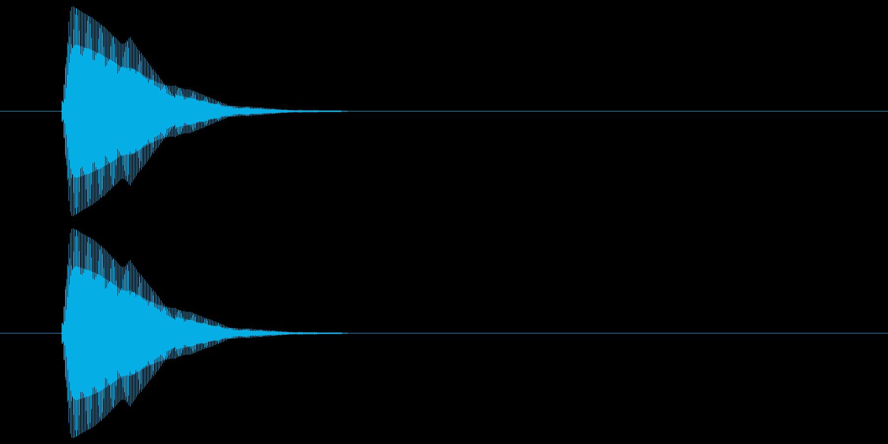 ピッ(カーソル、操作音) 03の再生済みの波形