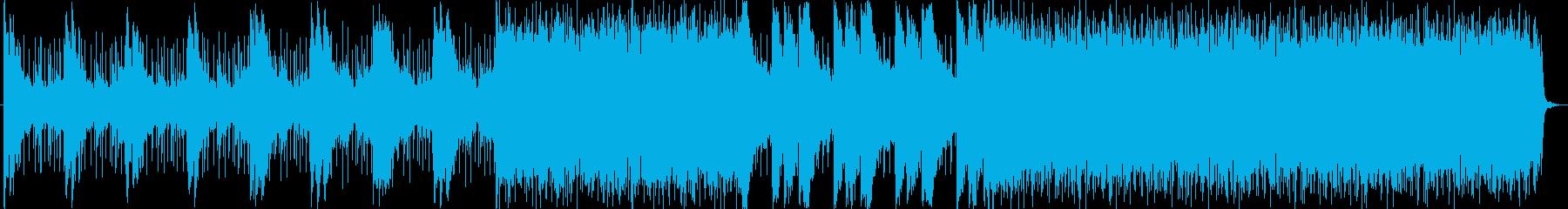 緊迫したサスペンスなアンビエント楽曲の再生済みの波形