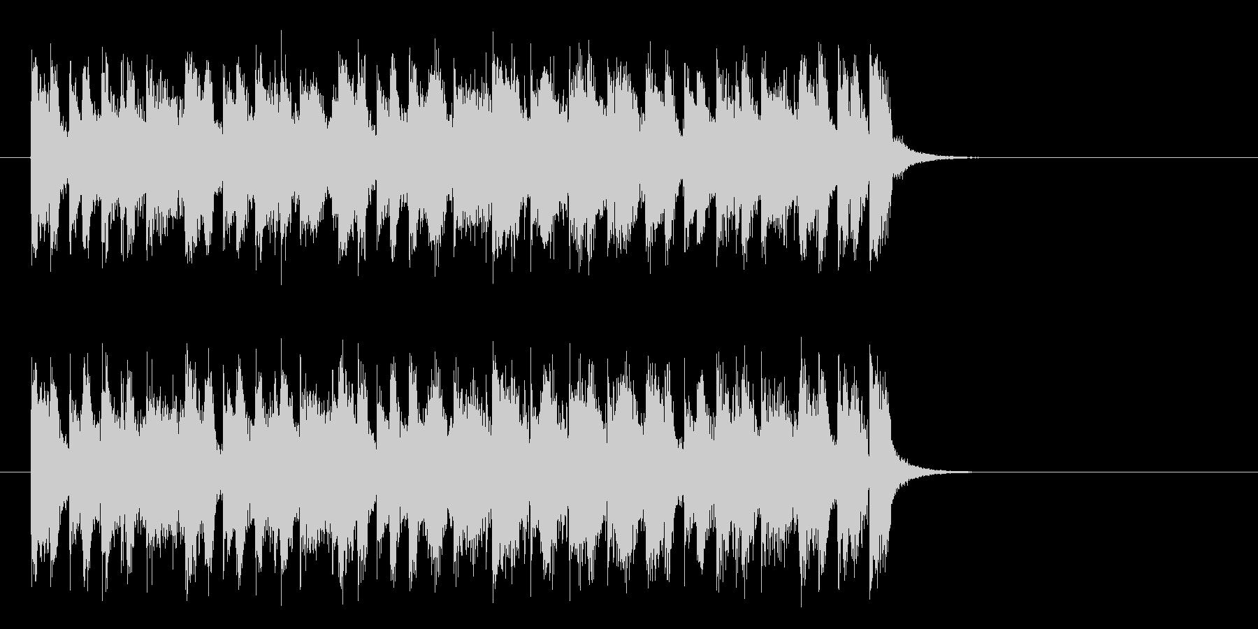 爽快なフュージョンポップ(サビ)の未再生の波形