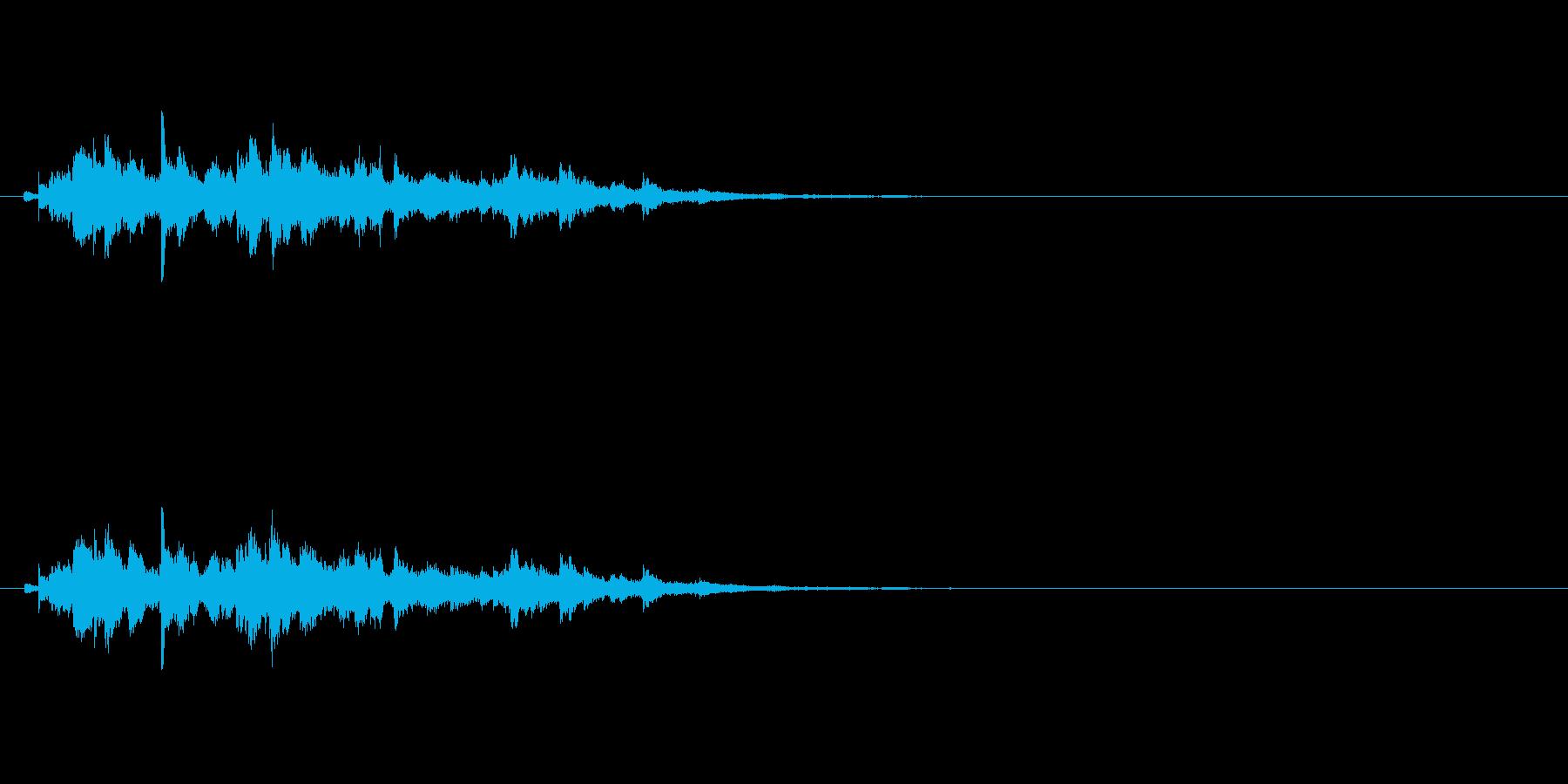 キラキラキラキラ〜/ウィンドチャイムの音の再生済みの波形