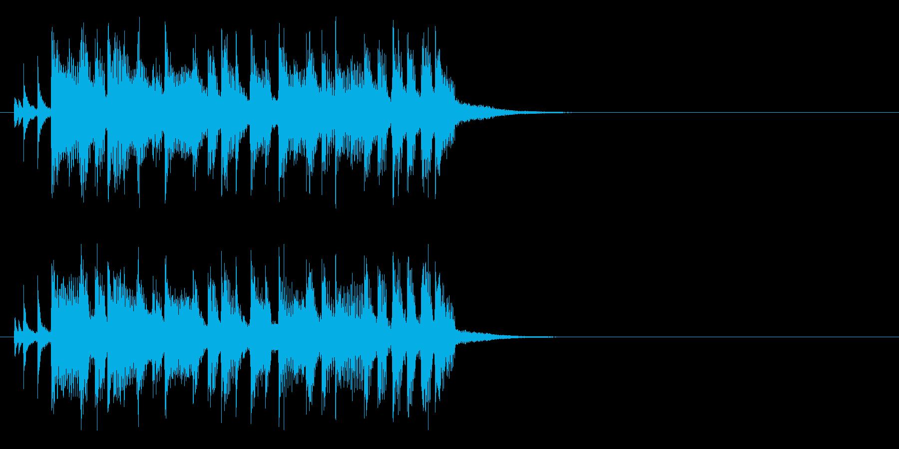 ジングル(ロック・タイプ)の再生済みの波形
