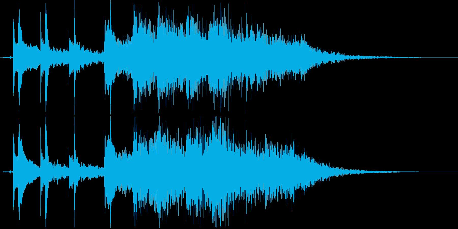 悲しく儚いショートソングの再生済みの波形