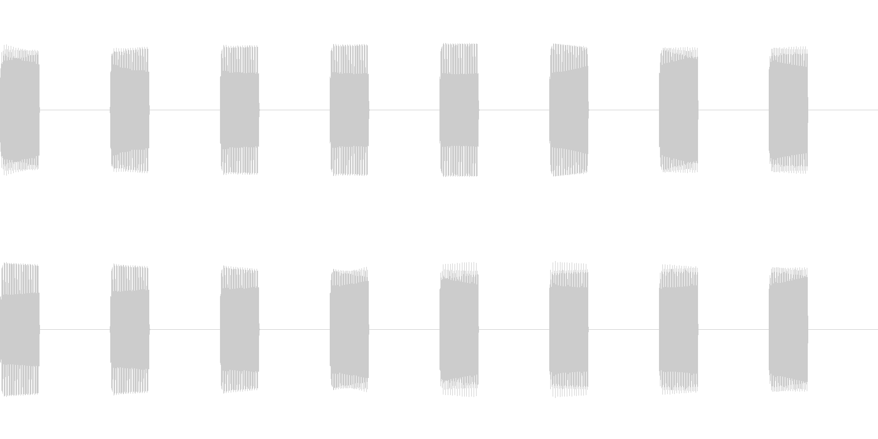 卓上電話のプルルルルという着信音の未再生の波形