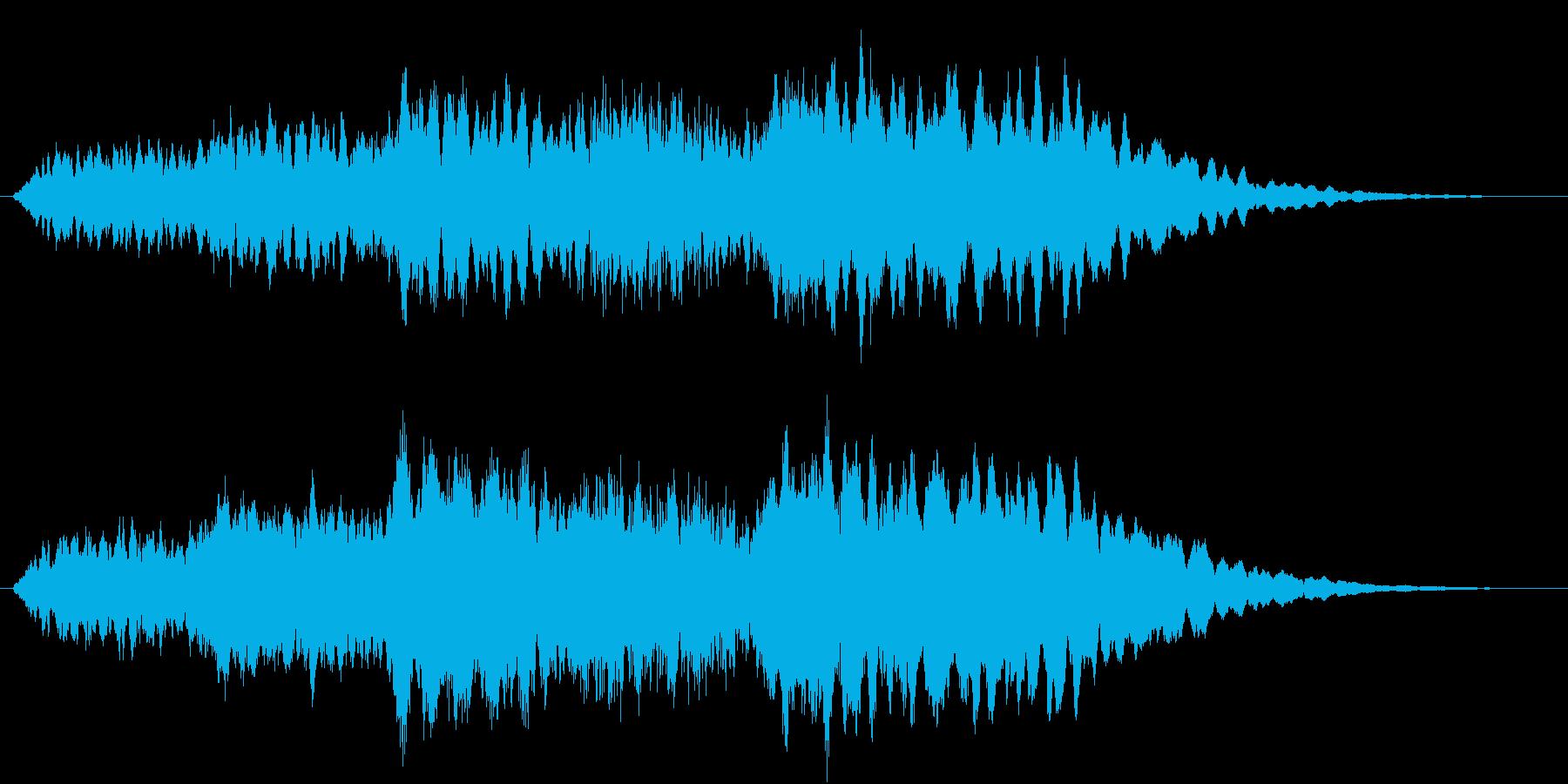 ミステリー系の短い効果音です。の再生済みの波形