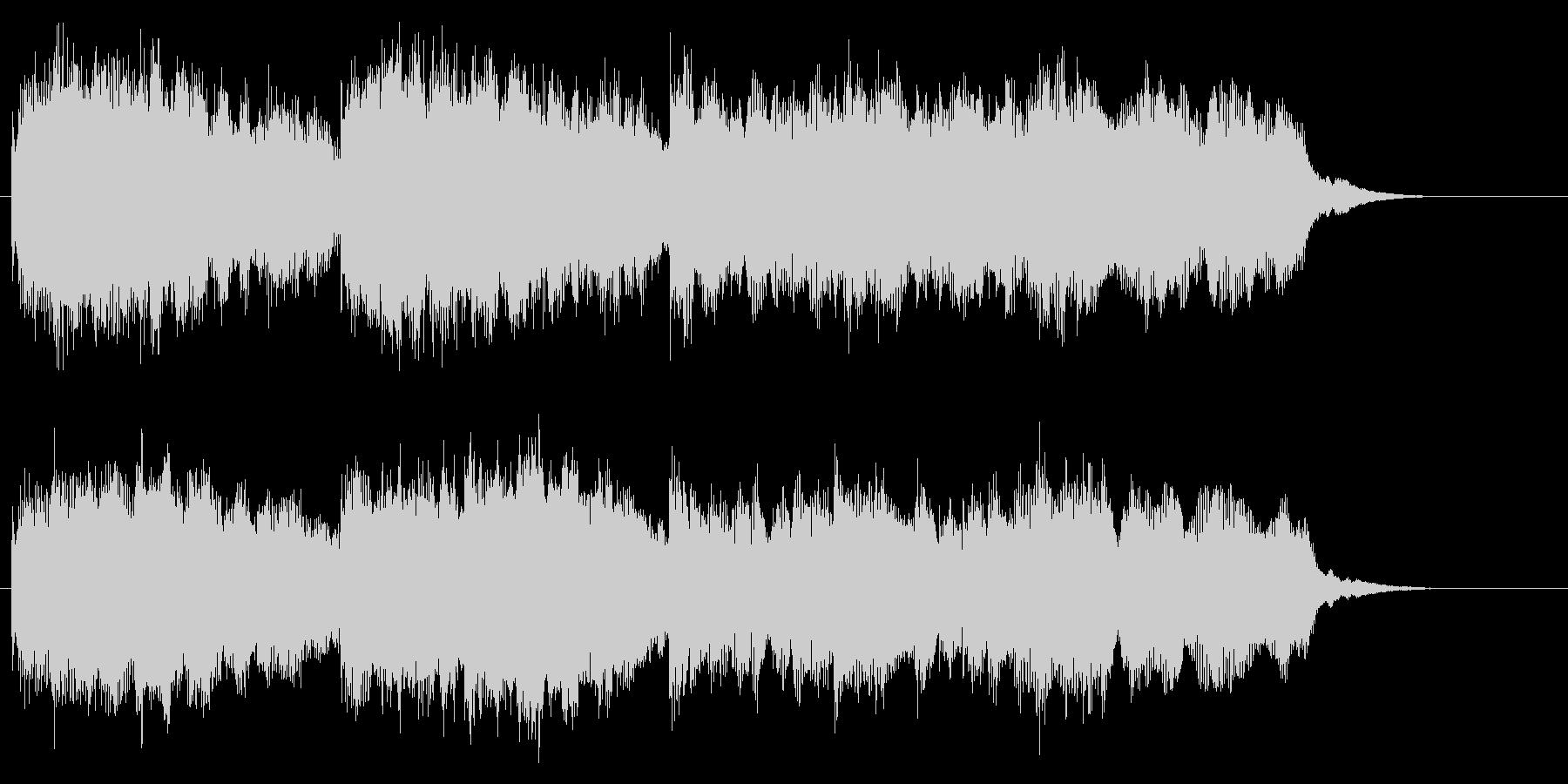 教会音楽風ですが最後は8分音符で刻みますの未再生の波形