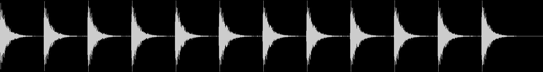 Kitchen ガスコンロの点火音 2の未再生の波形