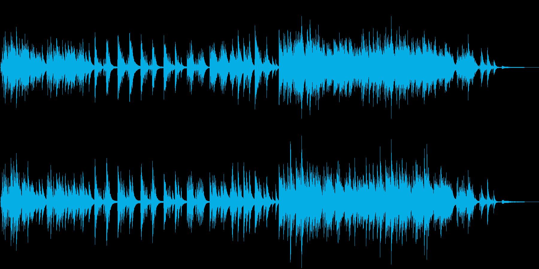 悲しみのシーンをイメージしたピアノ楽曲の再生済みの波形