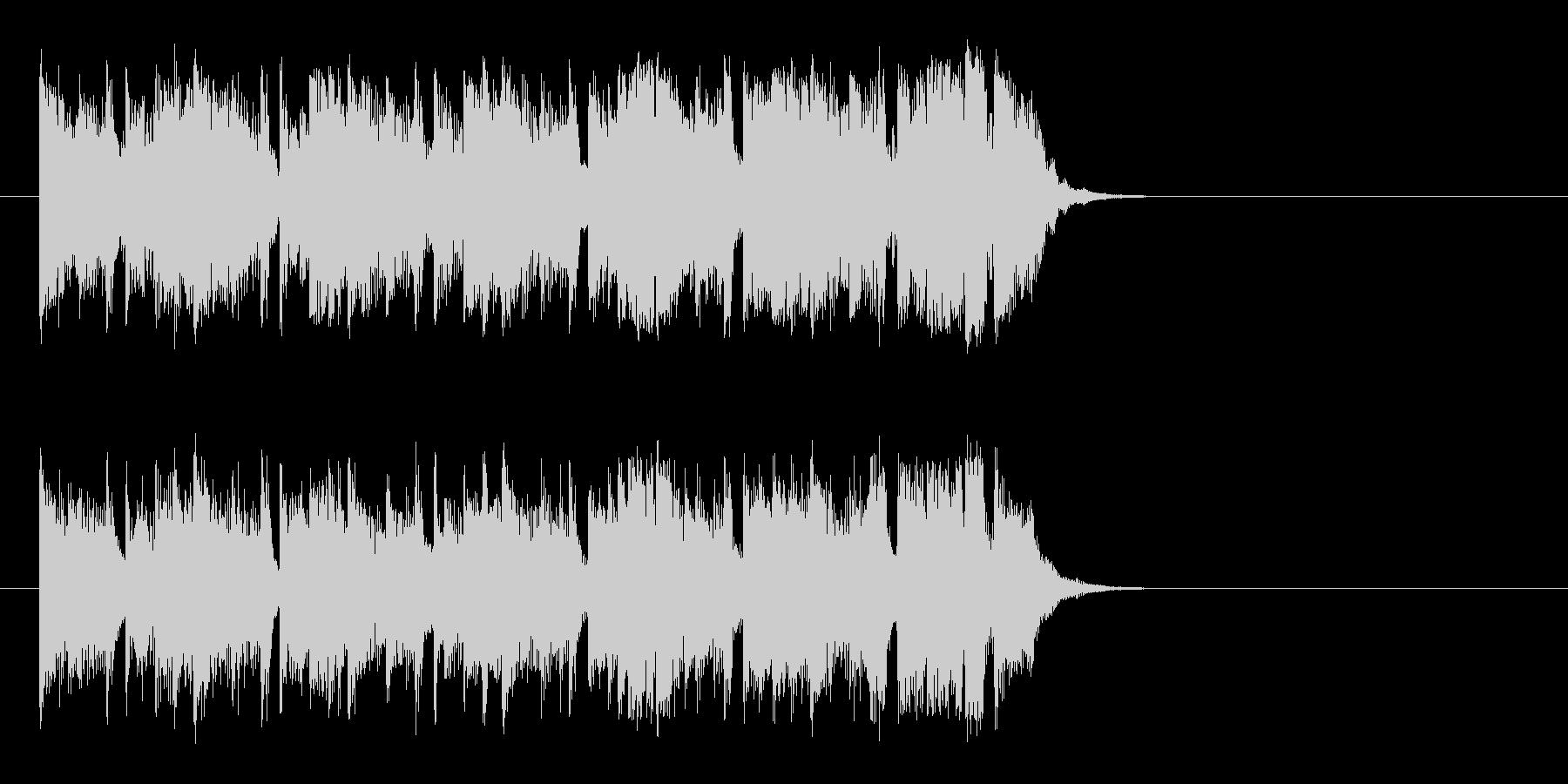 ワクワクする明るいポップ(イントロ)の未再生の波形