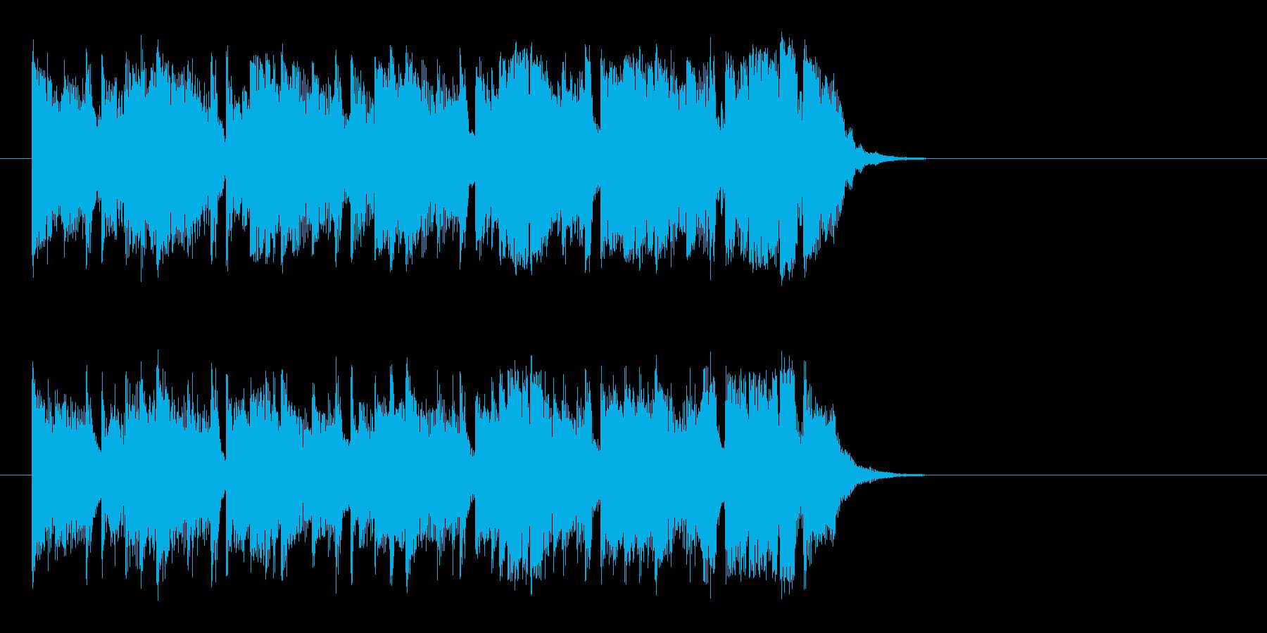 ワクワクする明るいポップ(イントロ)の再生済みの波形