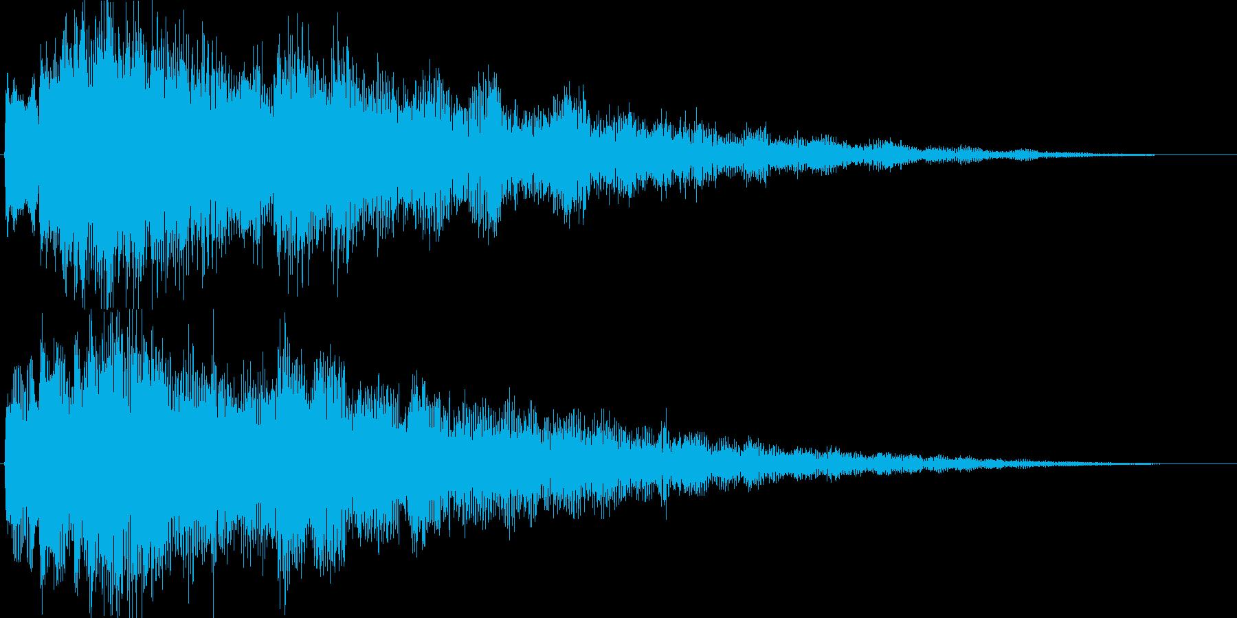 ジングル・お知らせ(シンセベル)の再生済みの波形