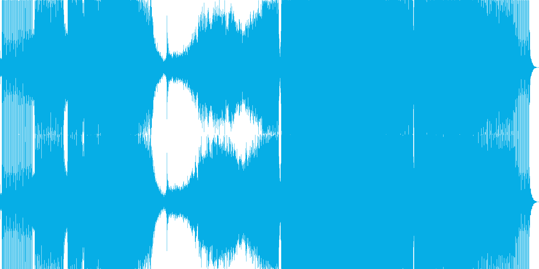 始まり感と浮遊感のあるトランスの再生済みの波形