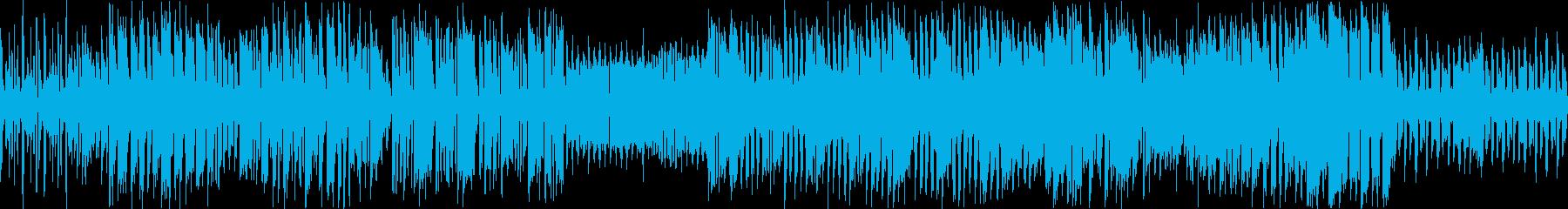 ゲーム向け明るいチップチューン。ループ可の再生済みの波形
