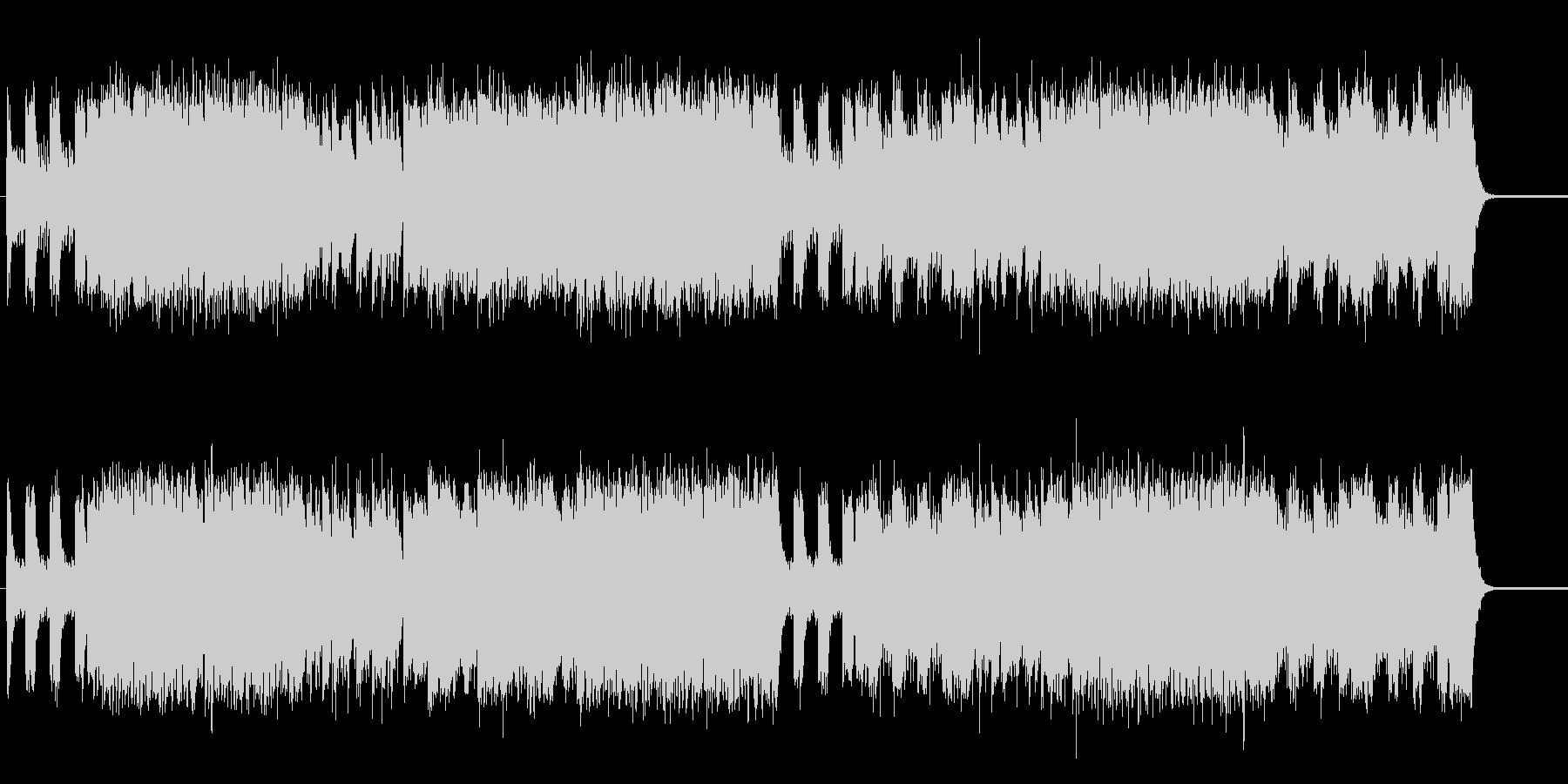 スカと電子音楽の攻撃的作品の未再生の波形