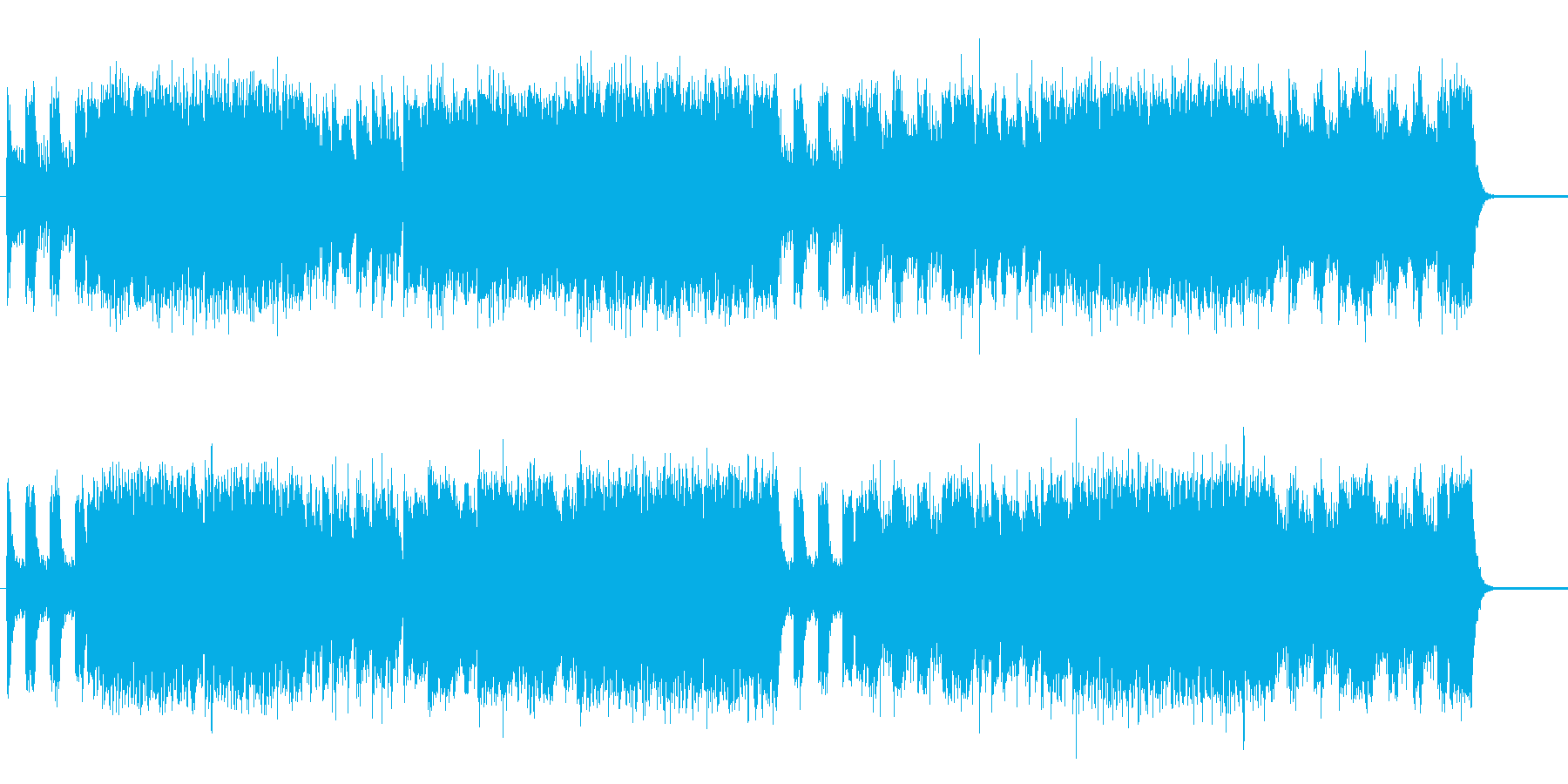 スカと電子音楽の攻撃的作品の再生済みの波形