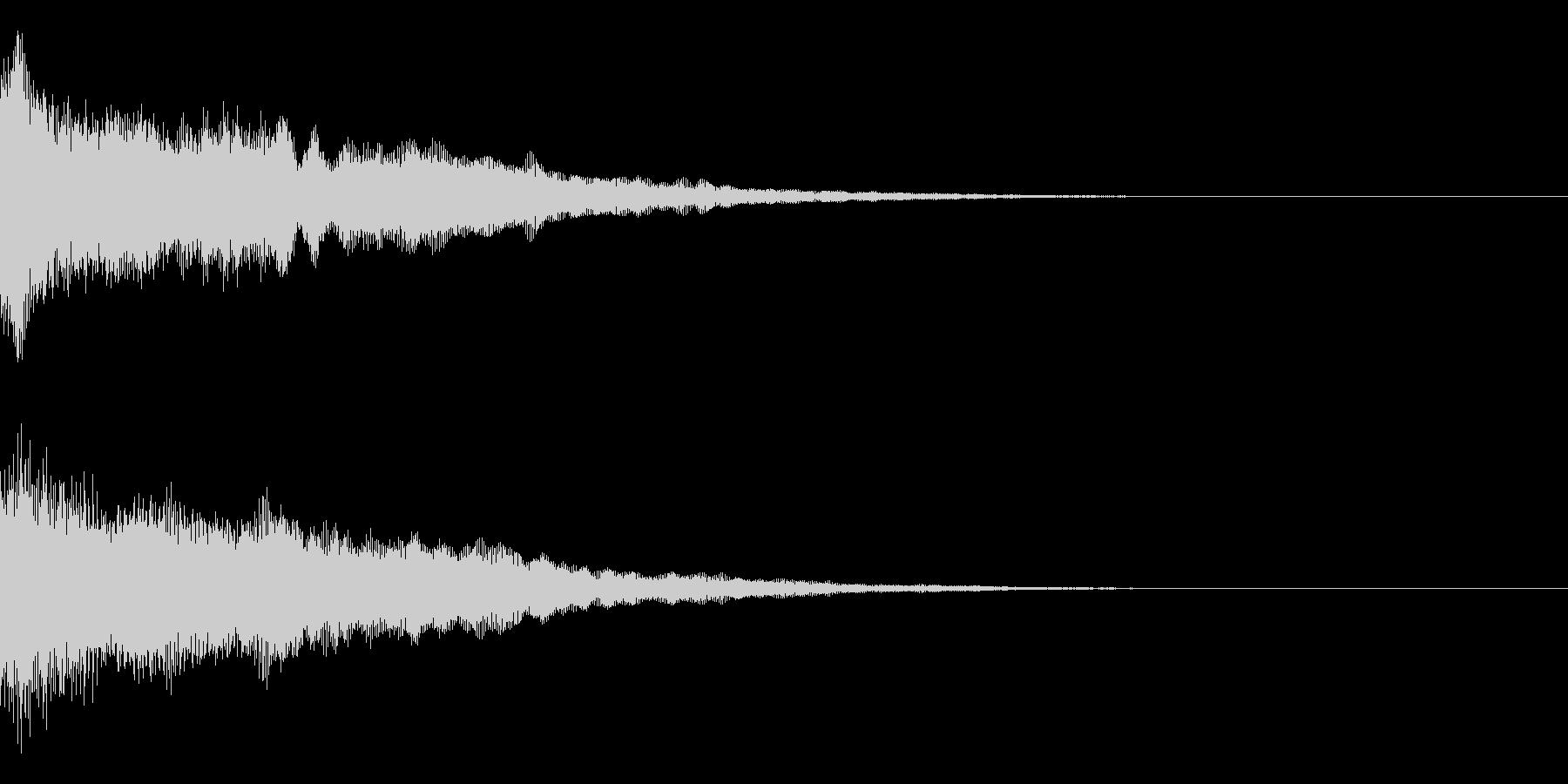 決定音/ゲーム/シンセサイザーの未再生の波形
