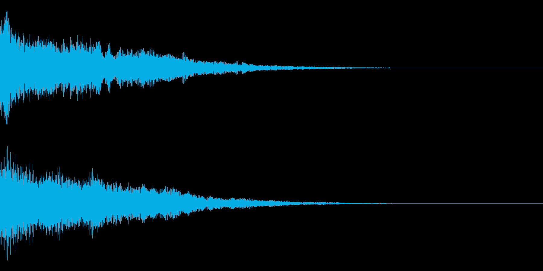 決定音/ゲーム/シンセサイザーの再生済みの波形