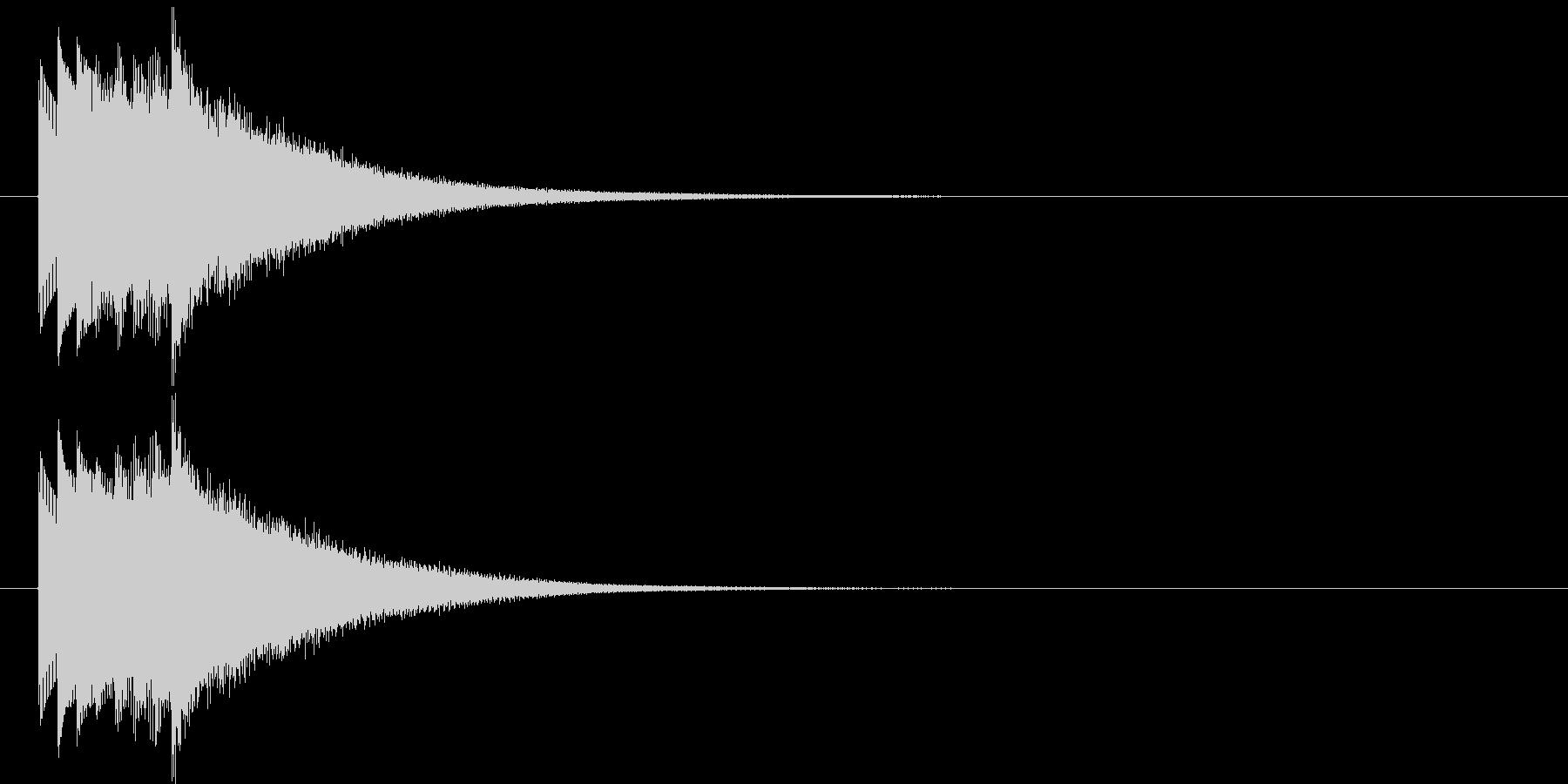 ハープシコード音、正解時などのSEの未再生の波形