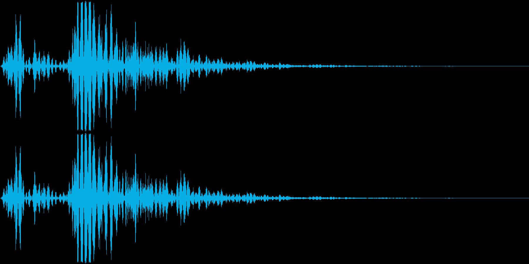 ロボットアニメに出て来そうなメカの歩く…の再生済みの波形