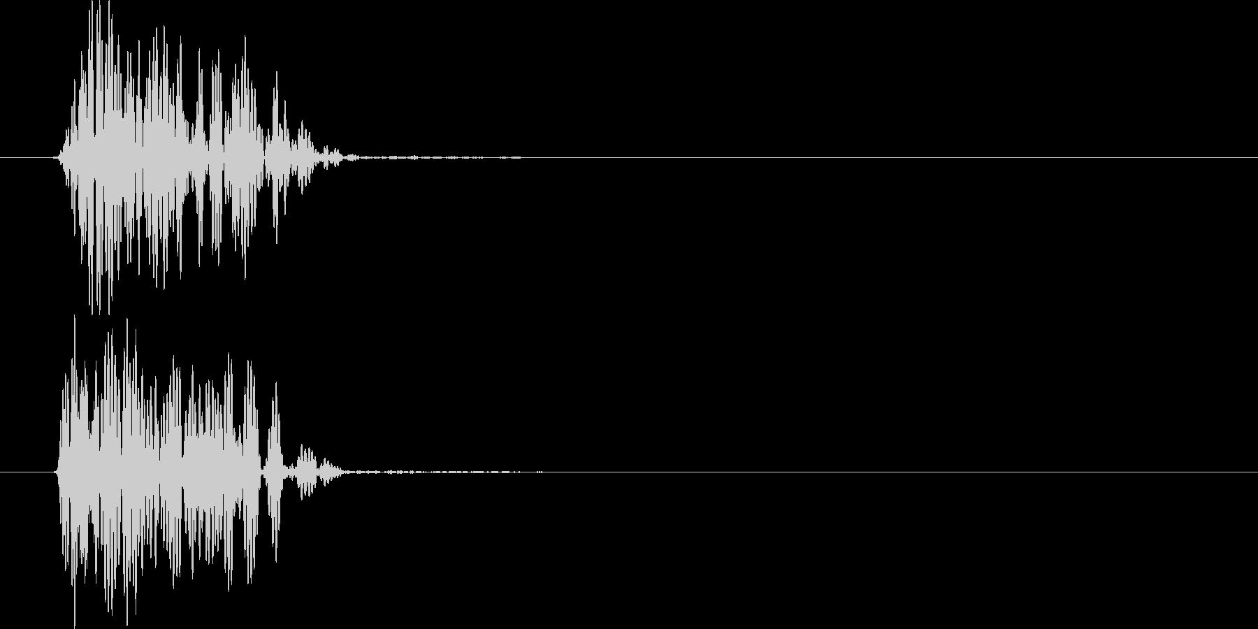 ヴォォォ(衝撃波)の未再生の波形