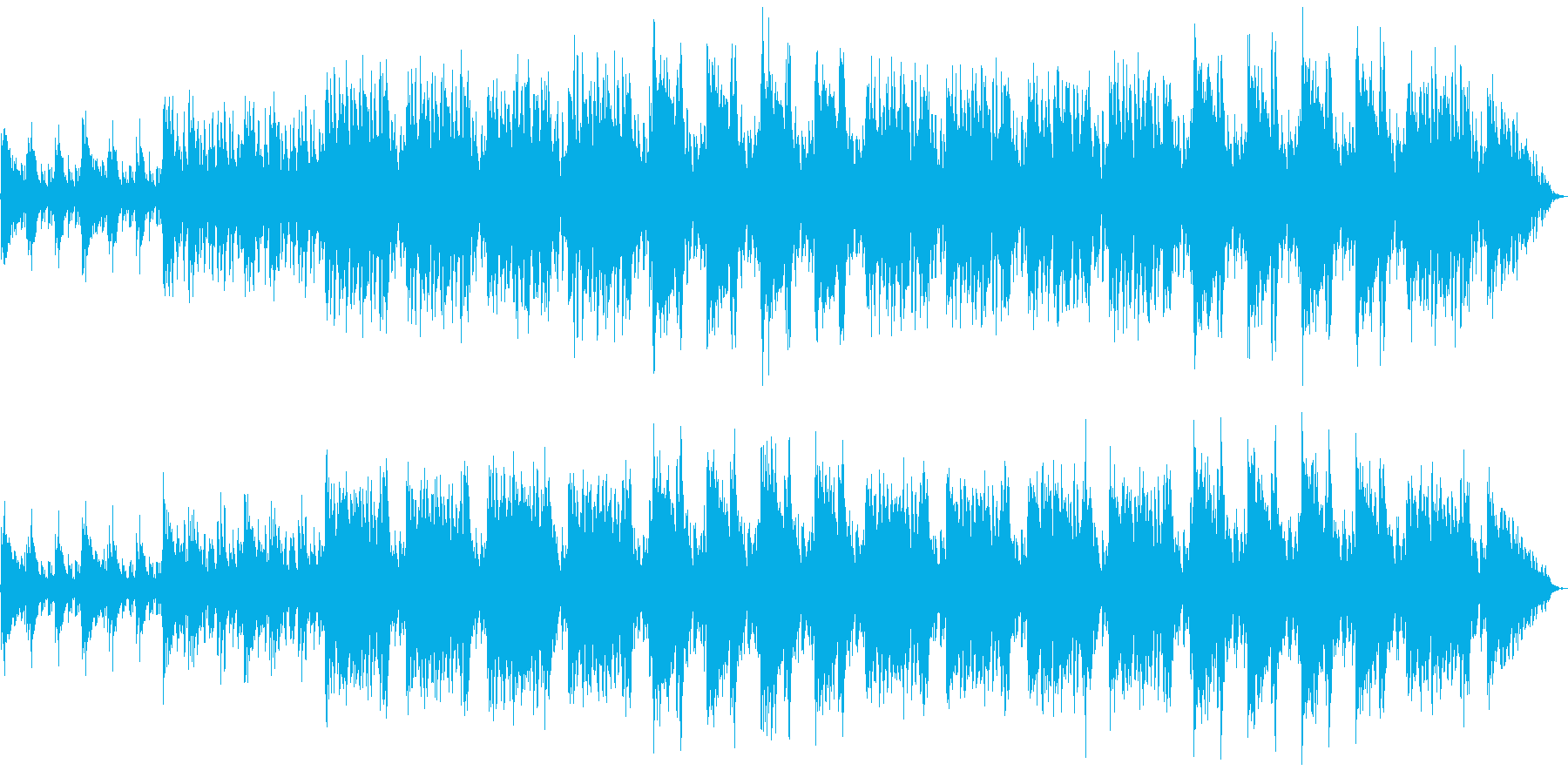 濁流 洪水 嵐 弦楽メインの劇伴風の再生済みの波形