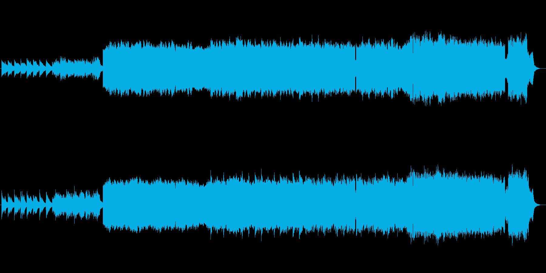 中世ルネサンス調古楽器のオリジナル曲の再生済みの波形