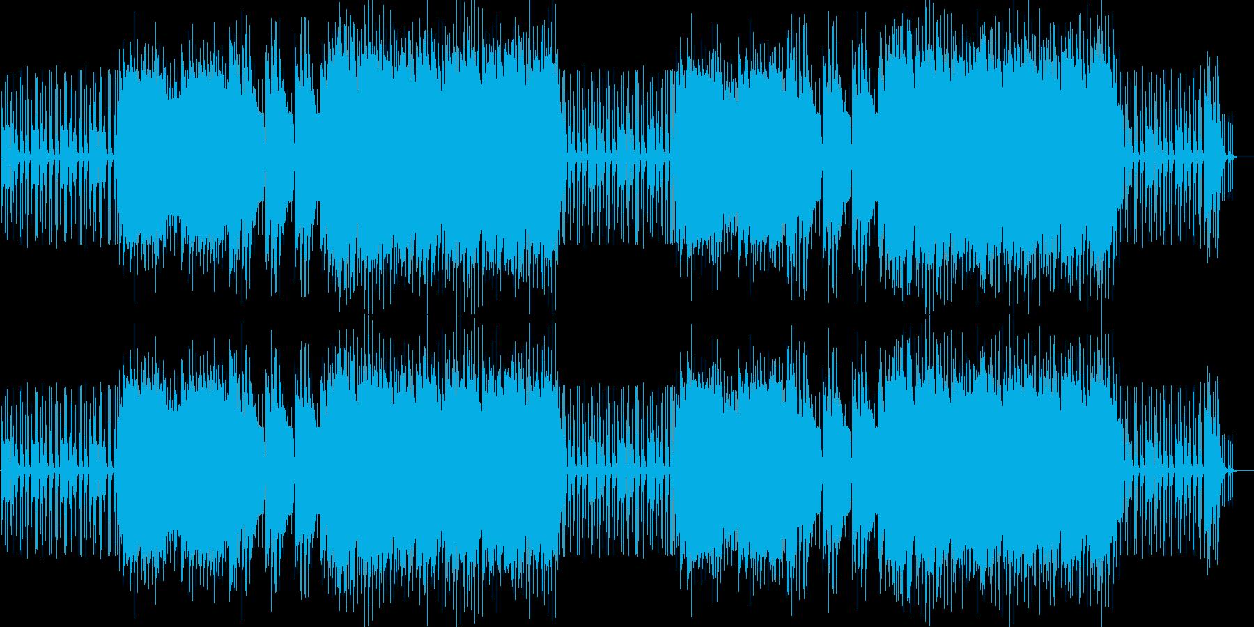 スーパーでかかってそうな音色のロック曲の再生済みの波形