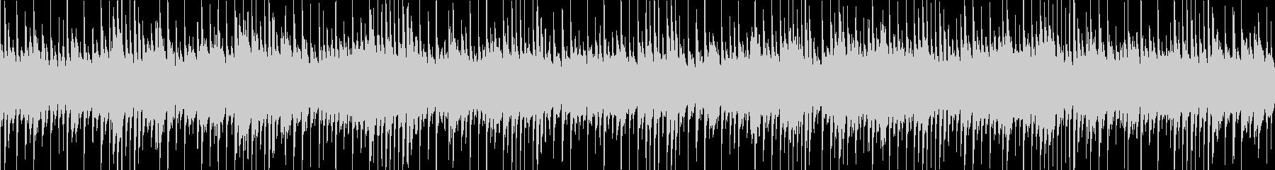 拍子が変だけど、耳に馴染みやすいテクノの未再生の波形
