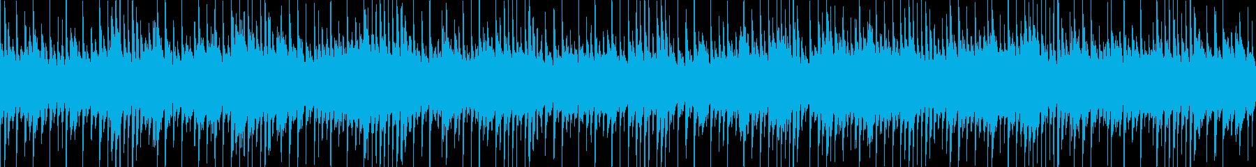 拍子が変だけど、耳に馴染みやすいテクノの再生済みの波形
