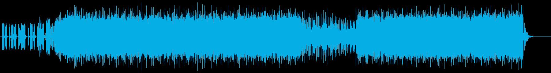 疾走感あふれるデジタルビートの再生済みの波形
