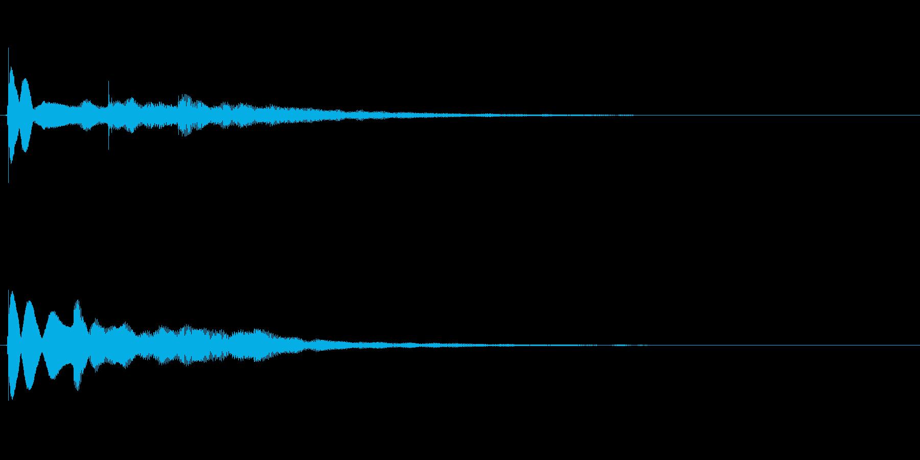 【チーン01-2】の再生済みの波形