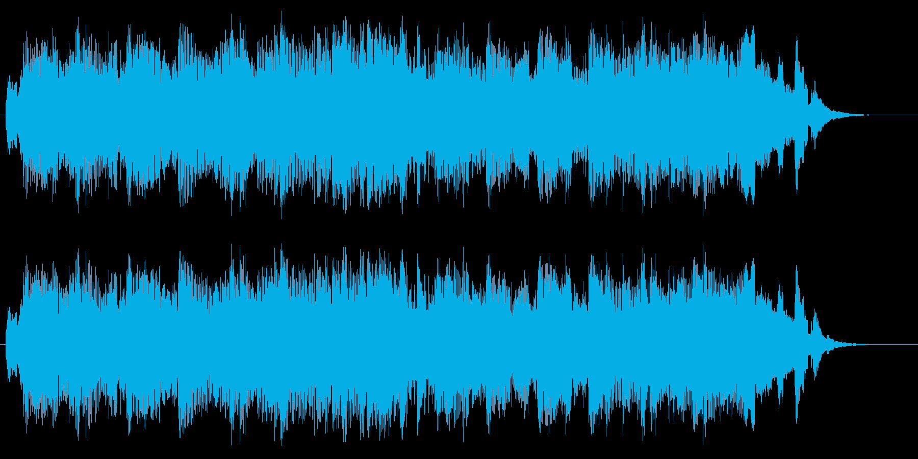 賑やかなイメージのジングルの再生済みの波形