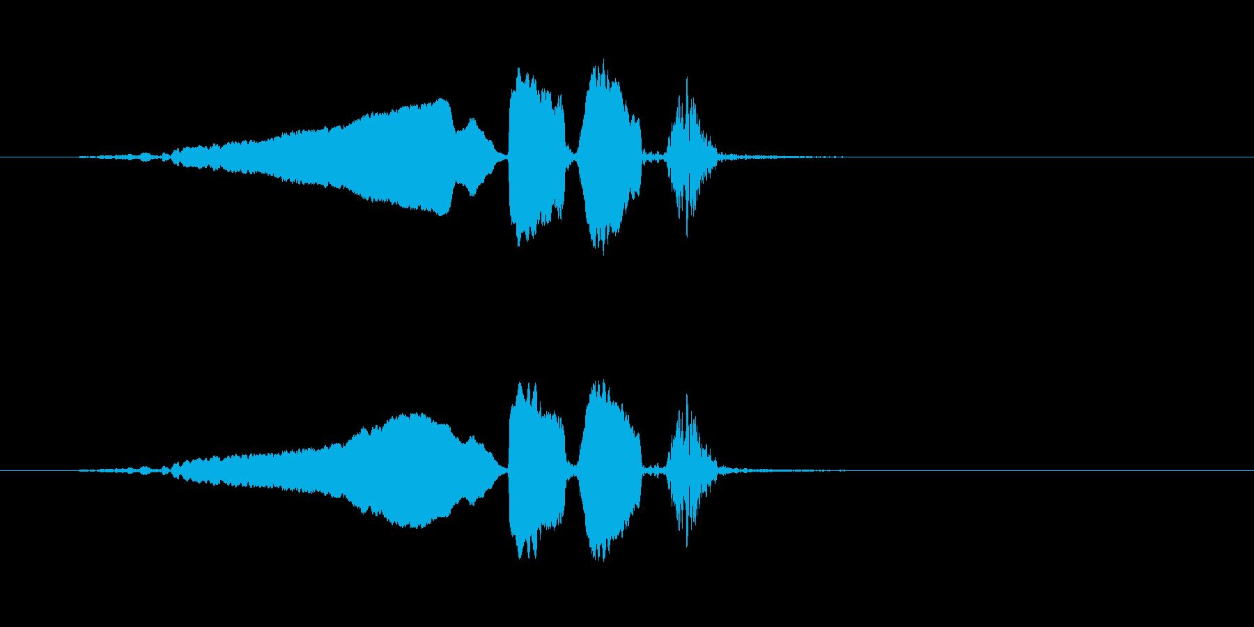 【ウグイス 合成01-1】の再生済みの波形