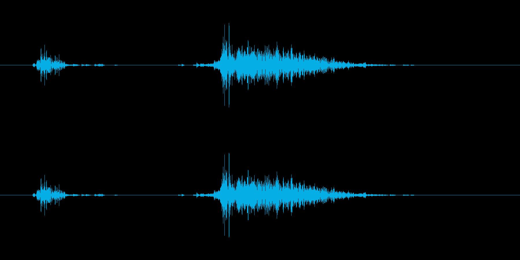 飲み込む音 (ゴクッ アー)の再生済みの波形