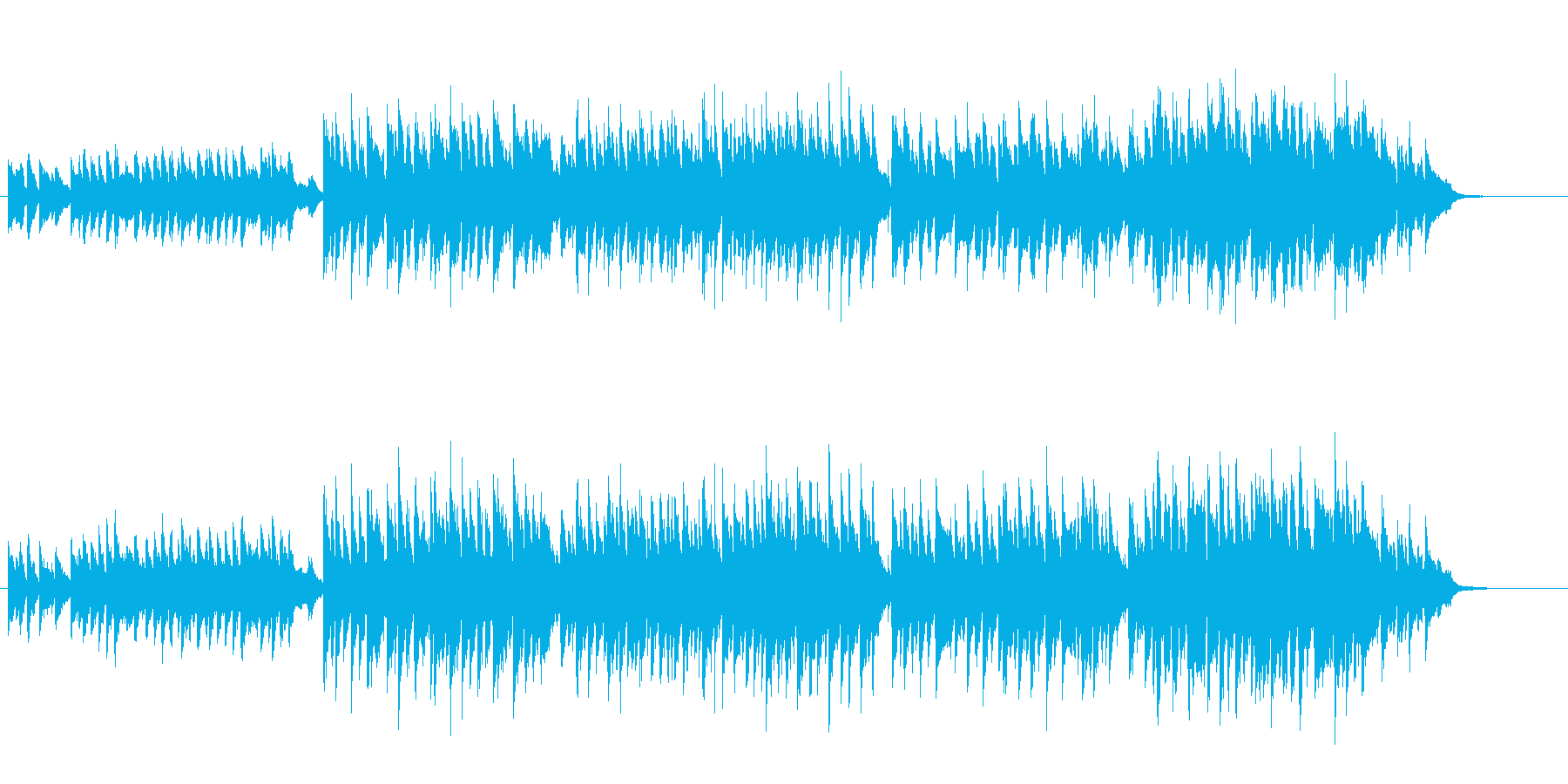 愁いを秘めたセンチメンタルなバラードの再生済みの波形